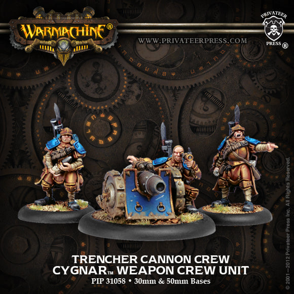 Cygnar Trencher Cannon Crew (PIP 31058)