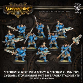 Cygnar Stormblade Infantry & Attachment (9) (PIP 31097)