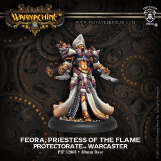 Protectorate on Menoth Feora, Priestess of Flame (PIP 32065)