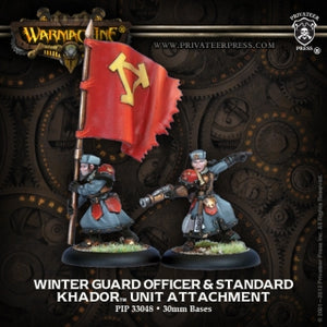Khador Winter Guard Officer & Standard (2) (PIP 33048)