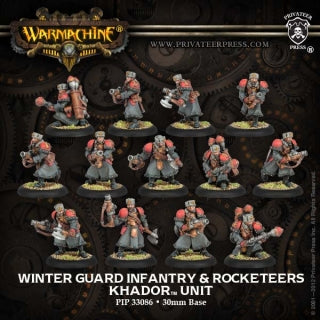 Khador Winter Guard Infantry & Rocketeers (13) (PIP 33086)