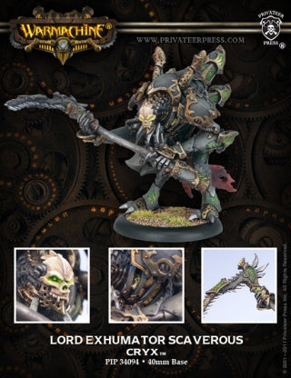 Cryx Warcaster Lord Exhumator Scaverous (PIP 34094)
