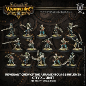 Cryx Revenant Crew of the Atramentous With Three Riflemen (15) (PIP 34119)
