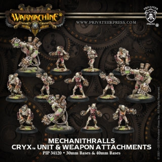 Cryx Mechanithralls & Attatchments (13) (PIP  34120)