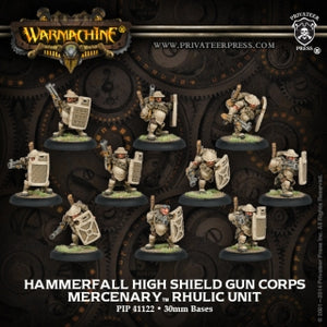 Mercenary Hammerfall High Shield Gun Corps (10) (PIP 41122)
