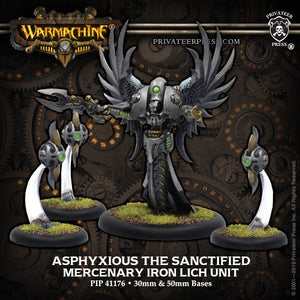 Mercenary Iron Lich Unit Asphyxious Sanctified (4) (PIP 41176)