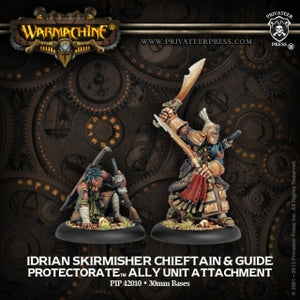 Protectorate of Menoth Allies Idrian Skirmisher Chieftain & Guide (2) (PIP 42010)
