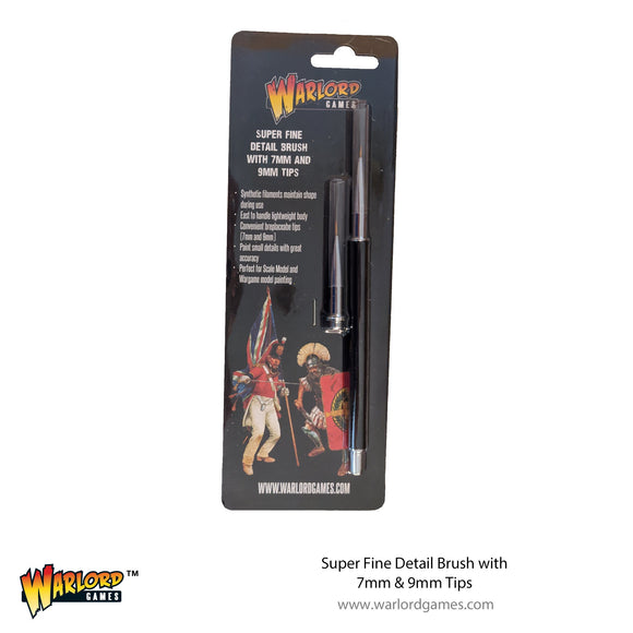 Warlord Tools Super Fine Detail Brush with 7mm & 9mm Tips