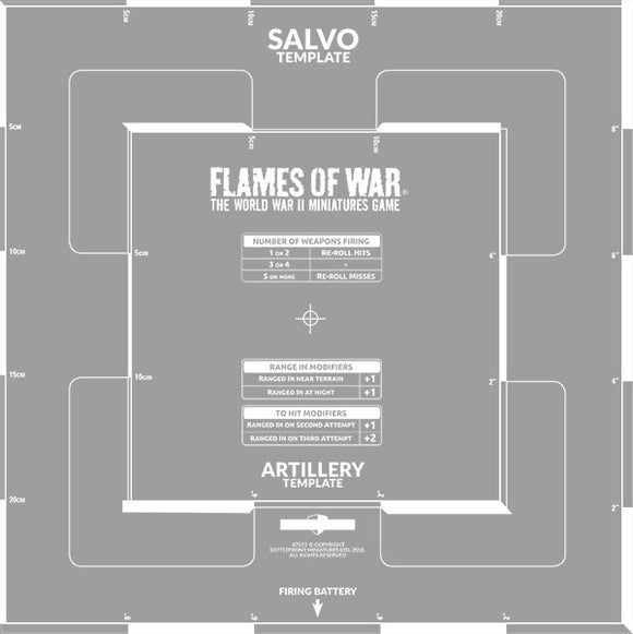 Flames of War Salvo Template (AT011)