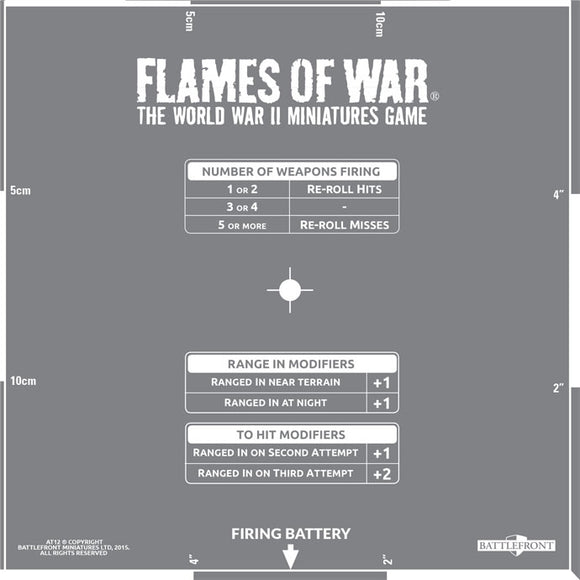 Flames of War Artillery Template (AT012)