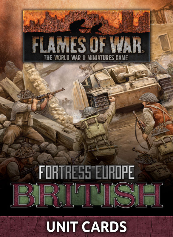 Flames of War Late War British Unit Cards (FW261B)