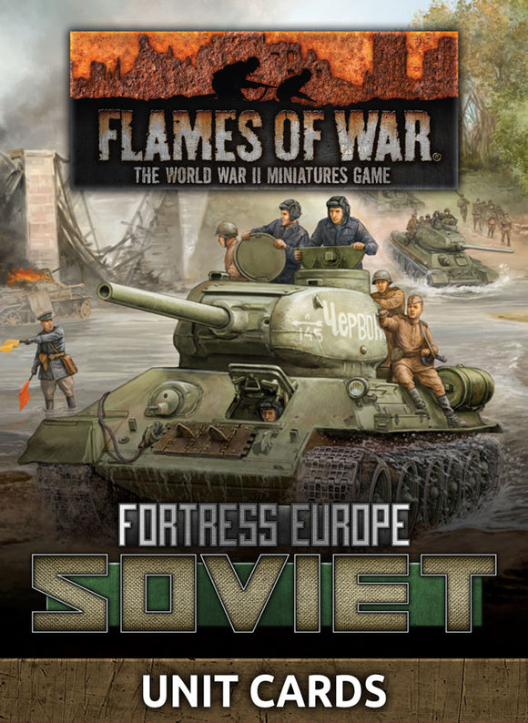 Flames of War Late War Soviet Unit Cards (FW261S)