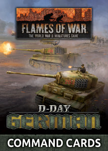 "Flames of War Late War German ""D-Day German"" Command Cards (FW263C)"