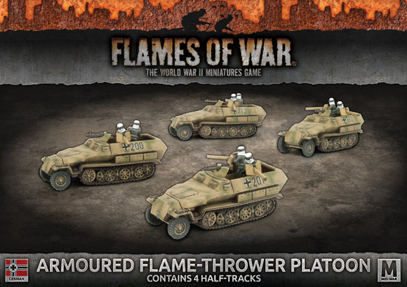 Flames of War Mid War German Armoured Flame-thrower Platoon (GBX125)