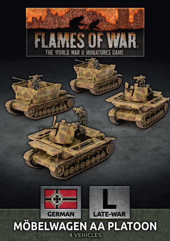 Flames of War Late War Mobelwagen 3.7cm AA Tank Platton (GBX174)