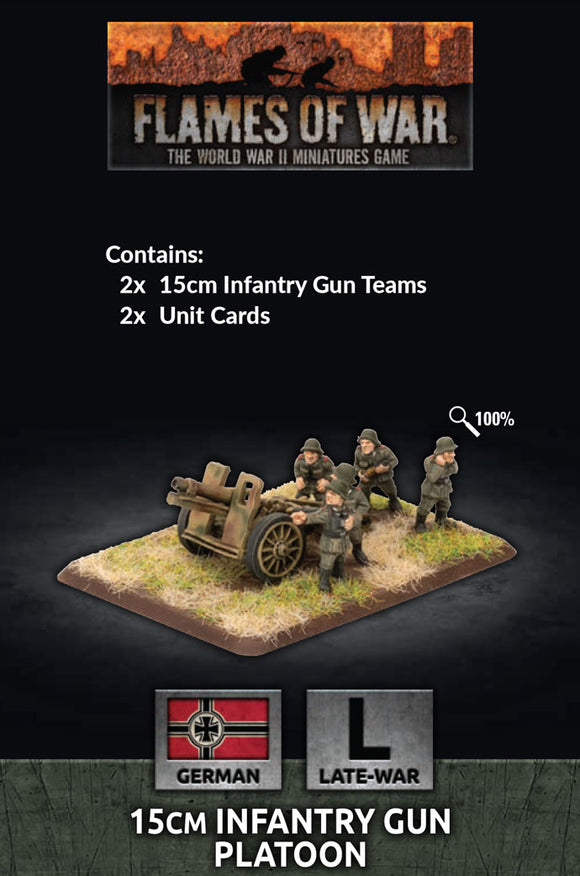 Flames of War Late War German 15cm Infantry Gun Platoon (GE570)