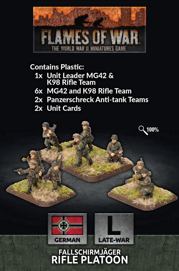 Flames of War Late War German Fallschirmjager Platoon (GE768)