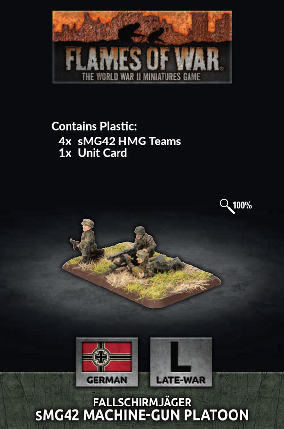 Flames of War Late War German Fallschirmjager HMG Platoon (GE770)