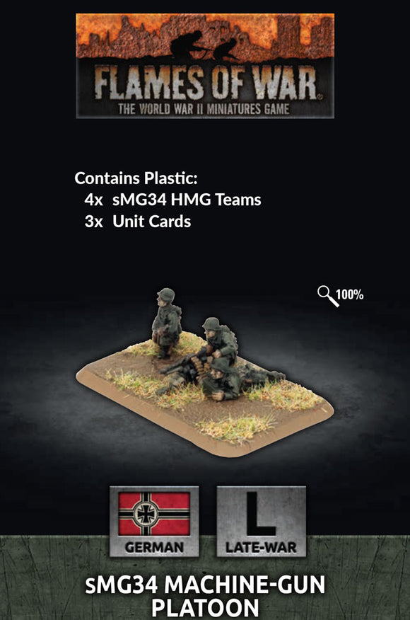 Flames of War Late War German MG34 Machine-gun Platoon (GE784)