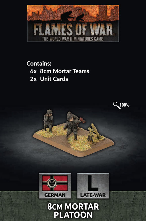 Flames of War Late War 8cm Mortar Platoon (GE785)