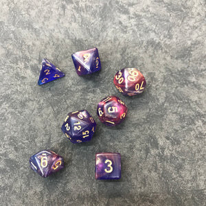 Purple Magenta Shimmer Poly Set