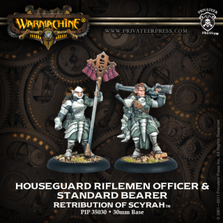 Retribution of Scyrah Houseguard Rifleman Officer & Standard Bearer (2) (PIP 35030)