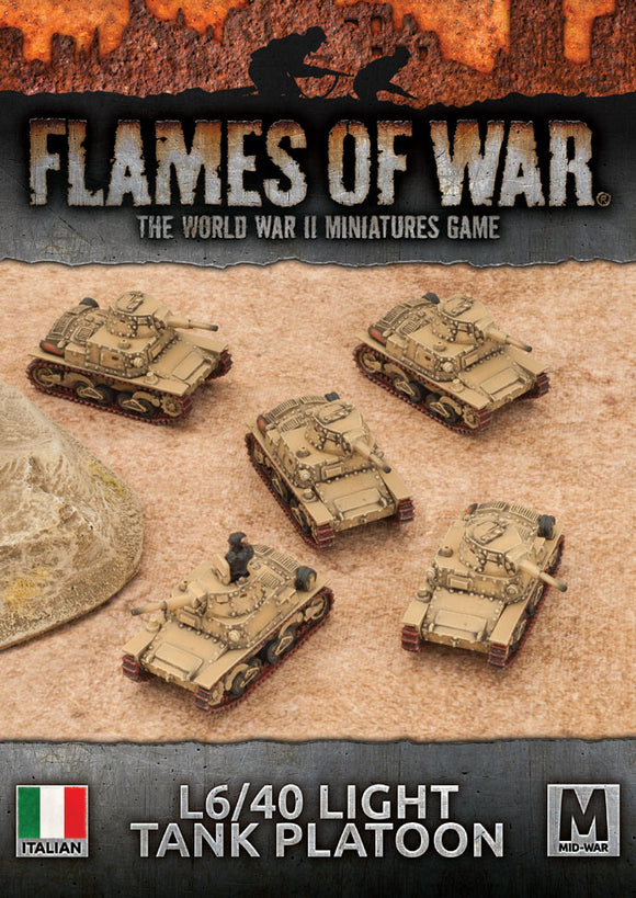 Flames of War Mid War Italian L6/40 Light Tank Platoon (IBX17)