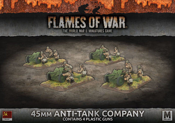 Flames of War Mid War Soviet 45mm Anti-Tank Company (SBX47)