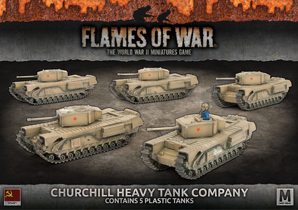 Flames of War Mid War Churchill Heavy Tank Company (SBX56)