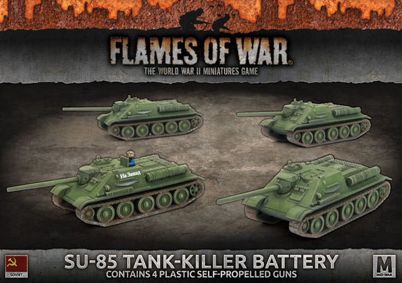 Flames of War Mid War SU-85 Tank-killer Battery (SBX57)