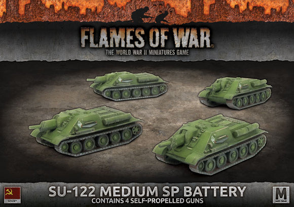 Flames of War Mid War Soviet SU-122 Medium SP Battery (SBX60)