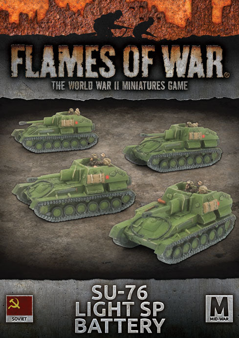 Flames of War Mid War Soviet SU-76 Light SP Battery (SBX61)