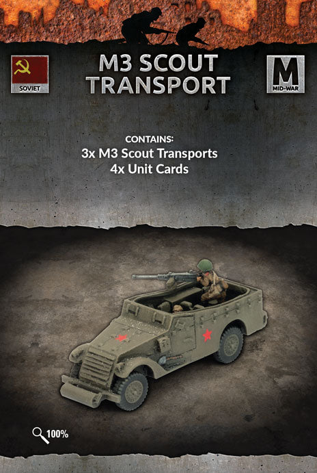 Flames of War Mid War Soviet M3 Scout Transport (SU205)
