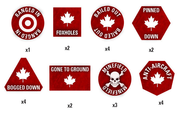 Team Yankee Canadian Token Set (TTK06)