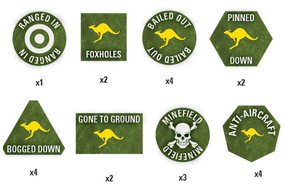 Team Yankee Australian Token Set (TTK07)