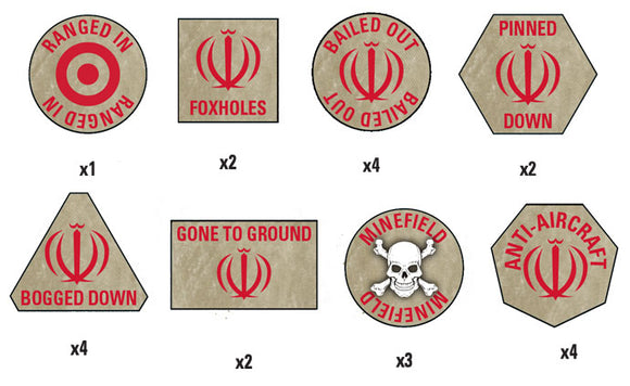 Team Yankee Iranian Token Set (TTK13)