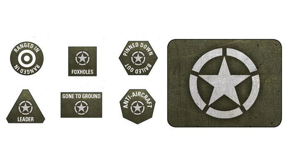 Flames of War American Tokens and Objectives (US907)