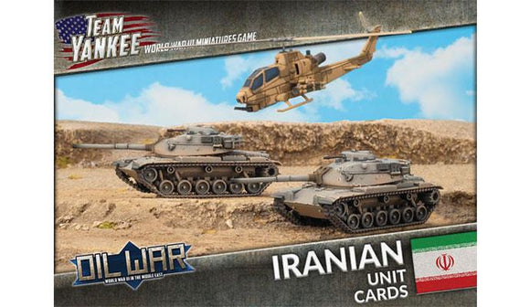 Team Yankee Oil War - Iranian Unit Cards (TIR901)