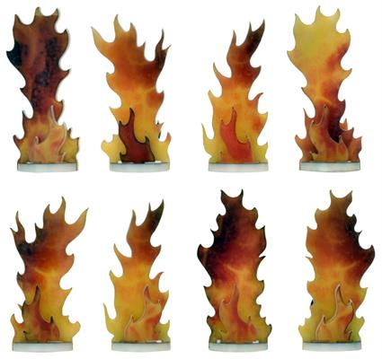 Flames of War Destroyed Markers (AT005)