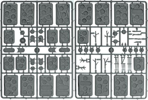 Flames of War Early, Mid and Late WarPlastic Bases - Rural (XX107)