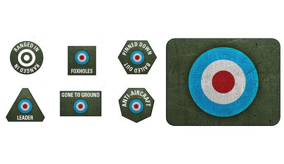 Flames of War British Tokens and Objectives (BR905)