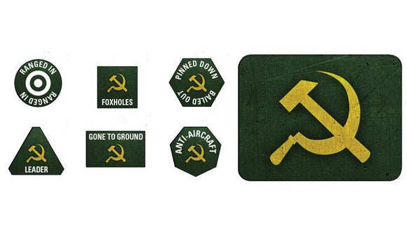 Flames of War Soviet Tokens and Objectives (SU903)