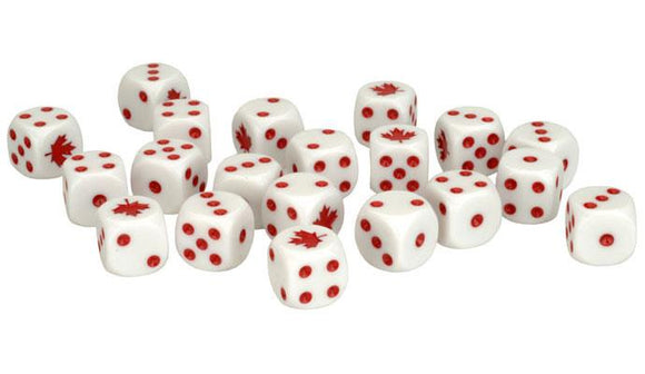 Team Yankee Canadian Dice Set (TCA900)