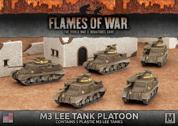 Flames of War Mid War American M3 Lee Tank Platoon (UBX50)