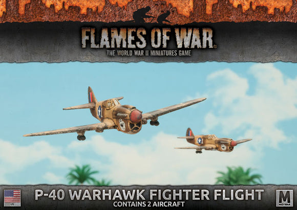 Flames of War Mid War American P-40 Warhawk Fighter Flight (UBX52)