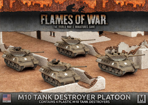 Flames of War Mid War American M10 3-Inch Tank Destroyer Platoon (UBX53)