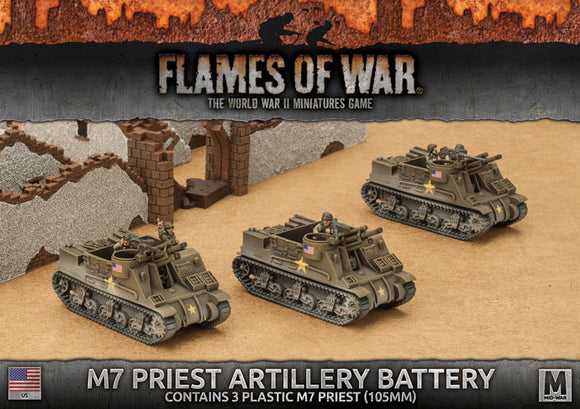 Flames of War Mid War American M7 Priest Armored Artillery Battery (UBX54)