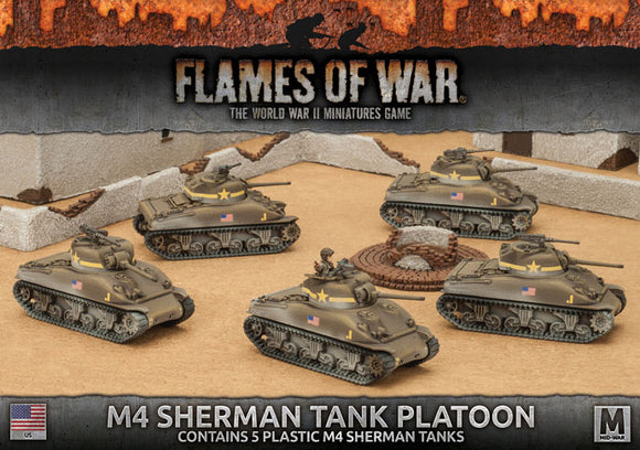 Flames of War Mid War M4 Sherman Tank Platoon (UBX55)