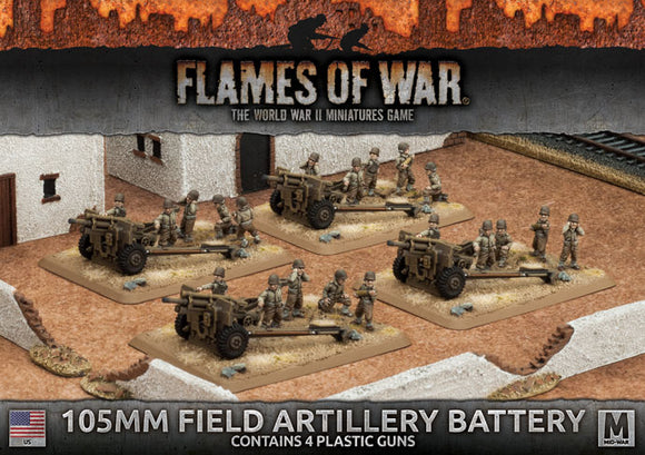 Flames of War Mid War American 105mm Field Artillery Battery (UBX60)