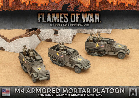 Flames of War Mid War American M4 81mm Armored Mortar Platoon (UBX62)
